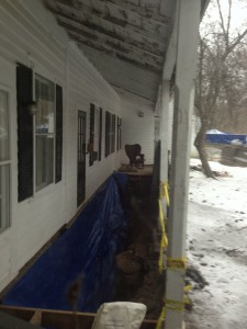 Our House with Basement Wall and Porch Missing